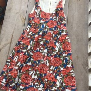 Fossil Floral Fit and Flare Sleeveless Dress